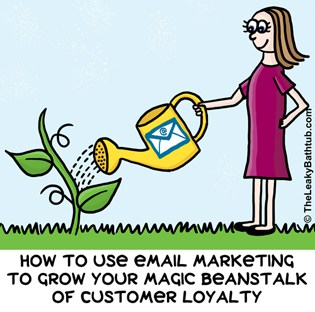 How to use the 3 different types of email marketing to grow your magic beanstalk of customer loyalty.