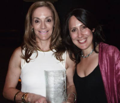Ruby Francis and Cornelia Luethi with Rubywaxx's Excellence in Retail Award.