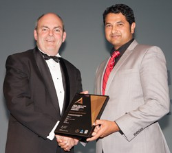 My client, Sanjesh Lal (right) of Keola Homes, receiving his Commercial Project Award.