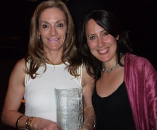 Cornelia Luethi (right) with Ruby Francis of Rubywaxx, who won an Excellence in Retail Award with Cornelia's award entry writing work.