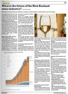 The editor of NZ Wine Technology magazine was so impressed with the articles I wrote for his new website, that he combined some of them and published them in the print magazine.